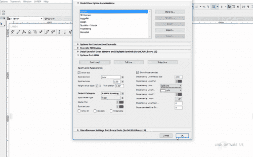 LAND4 offers full integration into the ARCHICAD ser interface